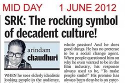 SKR: The rocking symbol of decanent culture! - Article by Prof. Arindam Chaudhuri; Mid Day