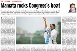 Mamata rocks Congress's boat, Article by Prof. Arindam Chaudhuri