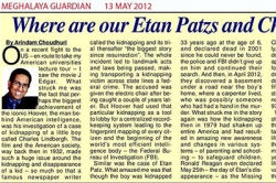 Where are our Etan Patzs and Charles Lindberghs - Article by Dr. Arindam Chaudhuri