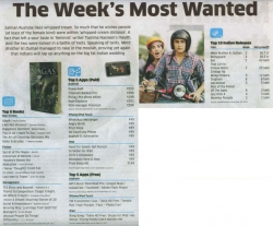 THORNS TO COMPETITION : The week's 'MOST WANTED' book , according to Economic Times