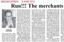 Run!!! The merchants of death and angry! Article by Prof. Arindam Chaudhuri, Sikkam Express
