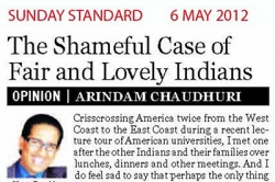 The shameful case of fair and lovely Indians', Article by Prof. Arindam Chaudhuri