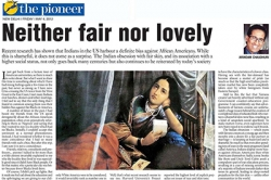 Neither fair nor lovely, Article by Prof. Arindam Chaudhuri